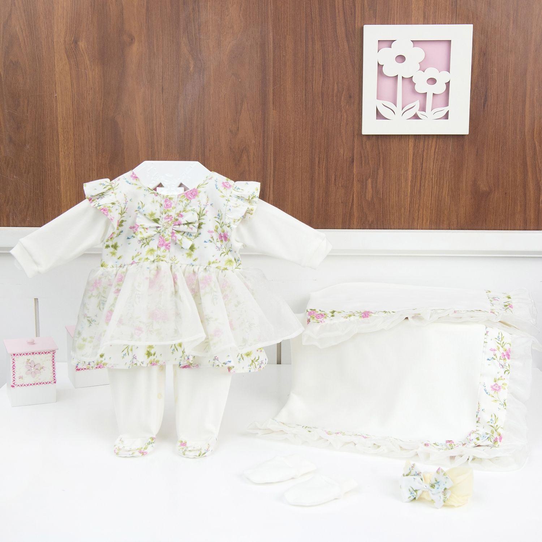 Saída Maternidade Flowers - Tamanho Único