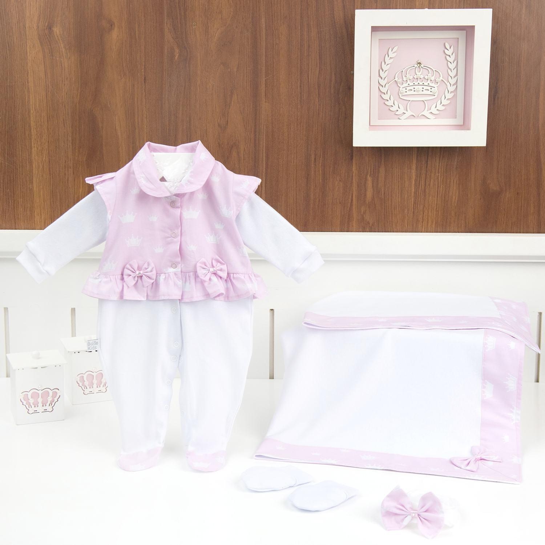 Saída Maternidade Princesinha Rosa - Tamanho Único