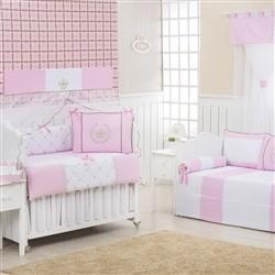 Quarto Econômico para Bebê Realeza Luxo Rosa