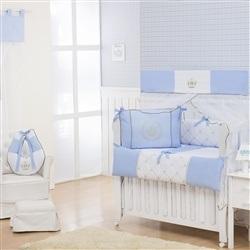 Quarto Econômico para Bebê sem Cama Babá Realeza Luxo Azul
