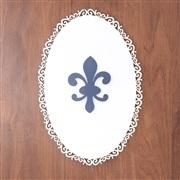 Quadro Decorativo Flor de Lis Marinho