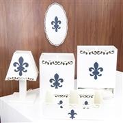 Kit Higiene Completo Flor de Lis Marinho