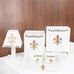 Kit Higiene Flor de Lis Dourada