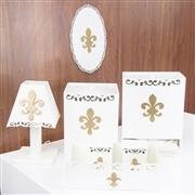 Kit Higiene Completo Flor de Lis Dourada