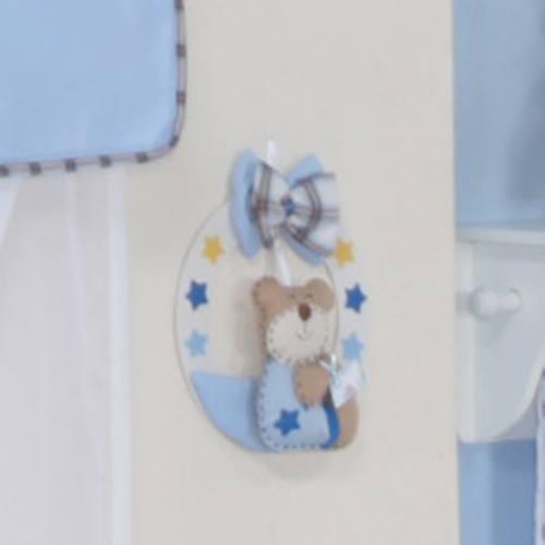 Enfeite de Porta Baby Bear Azul