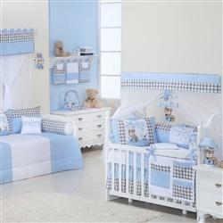 Quarto para Bebê sem Cama Babá Baby Bear Azul