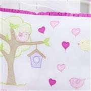 Kit Berço Casinha dos Pássaros Pink