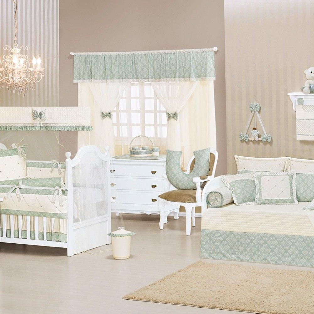 Quarto para Bebê Sem Cama Babá Amore Verde