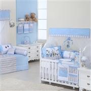 Quarto para Bebê sem Cama Babá Reino dos Animais Azul