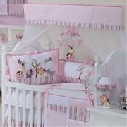 Quarto para Bebê sem Cama Babá Reino dos Animais Rosa