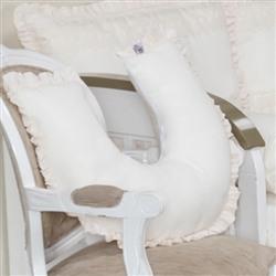 Almofada para Amamentação Urso Luxo Palha com Bordado Inglês