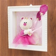 Nicho Decorativo Ursa Balão Pink