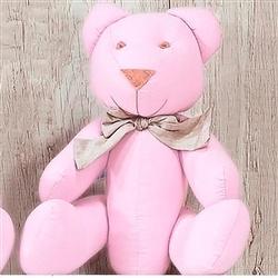 Urso Gravata Rosa G Elegance