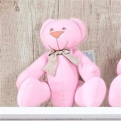 Urso Gravata Rosa P Elegance