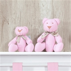 Família Ursos Gravata Rosa Elegance