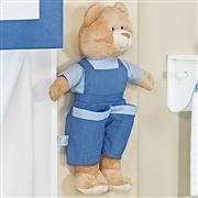 Urso de Jardineira Porta Fraldas Azul