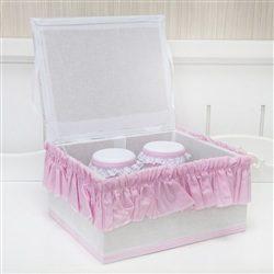 Kit Acessórios Bauzinho Borboleta Rosa