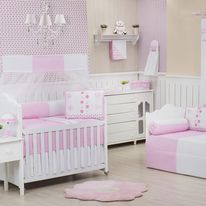 Quarto para Bebê Borboleta Rosa