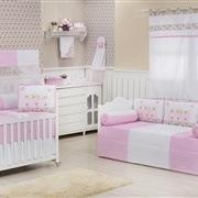 Quarto para Bebê Doçura Rosa