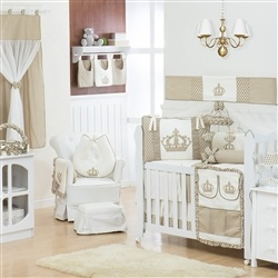 Quarto para Bebê sem Cama Babá Imperial Cáqui Poá