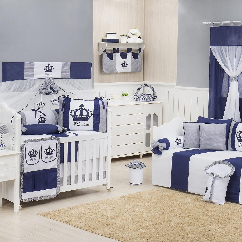 Quarto para Bebê Imperial Marinho Listrado