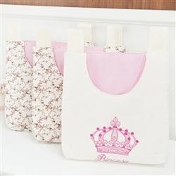 Porta Fraldas Varão Imperial Rosa Floral