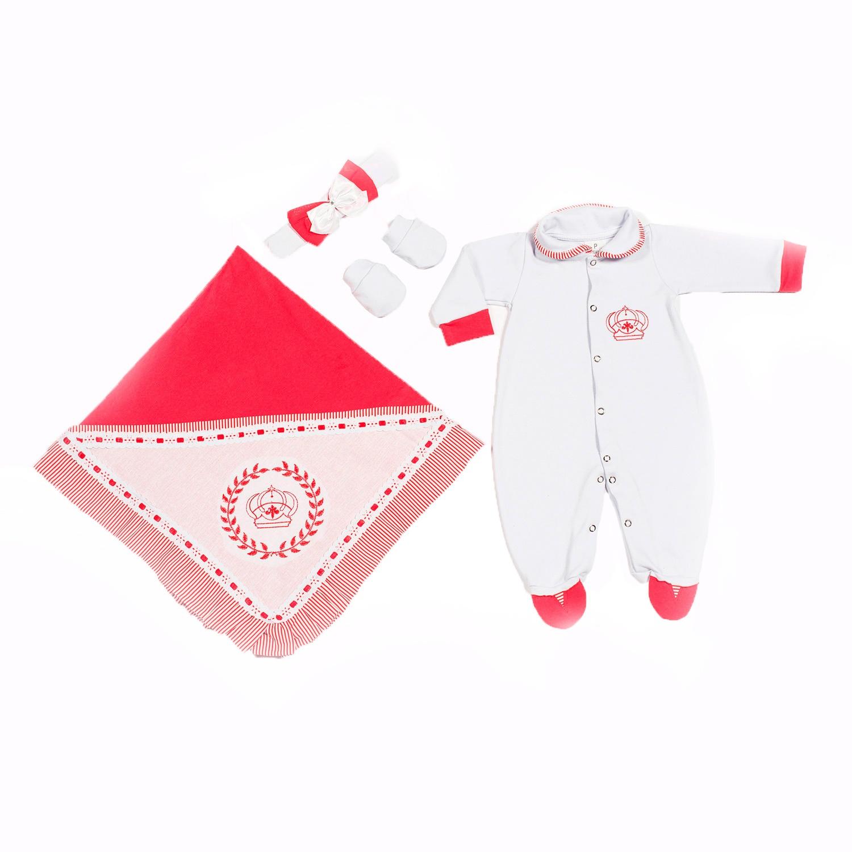 Saída Maternidade Realeza Vermelho - P
