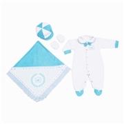 Saída Maternidade Realeza Azul - P