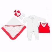 Saída Maternidade Encanto Vermelho - P