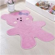 Tapete Ursa Biscoito Rosa