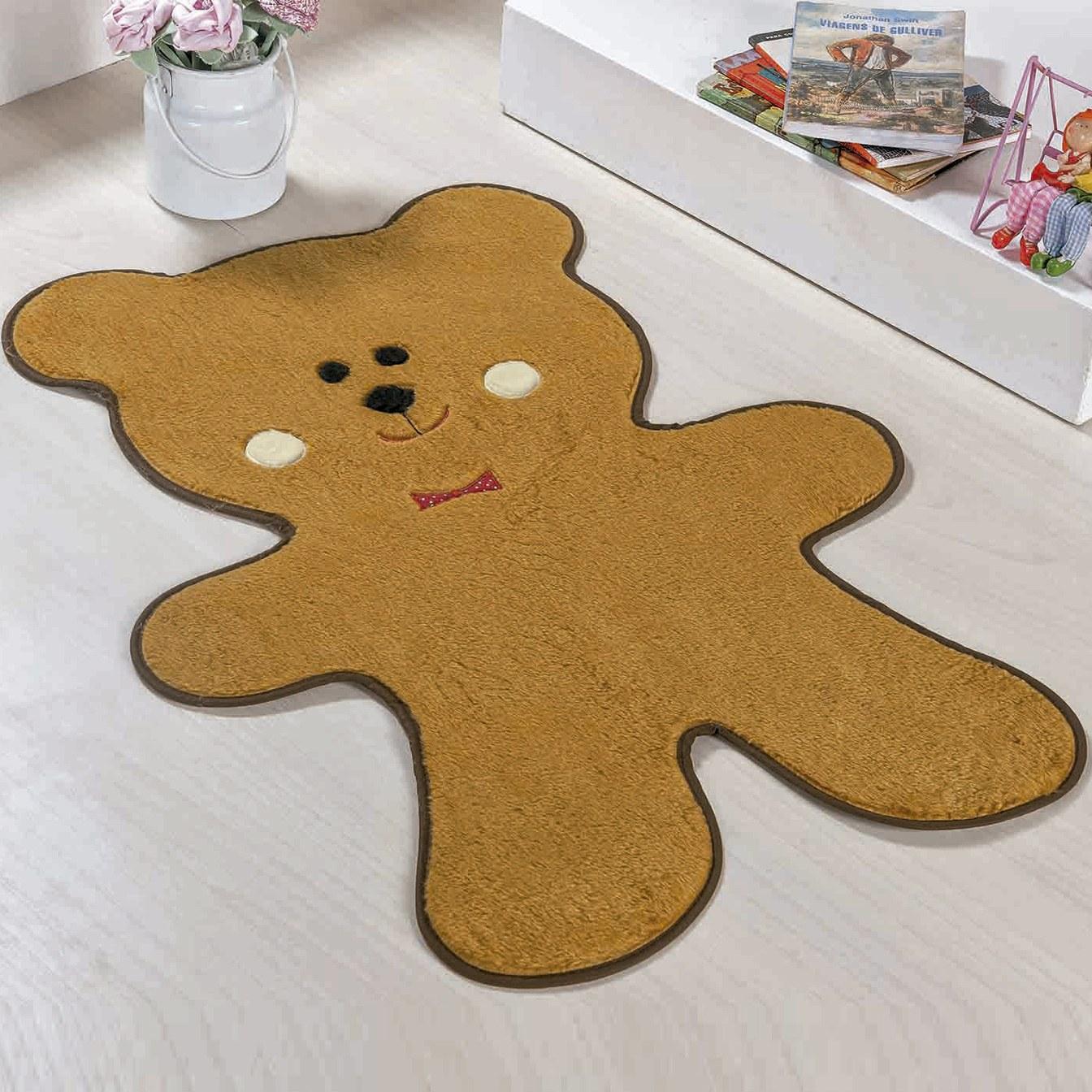 Tapete Urso Biscoito Caramelo