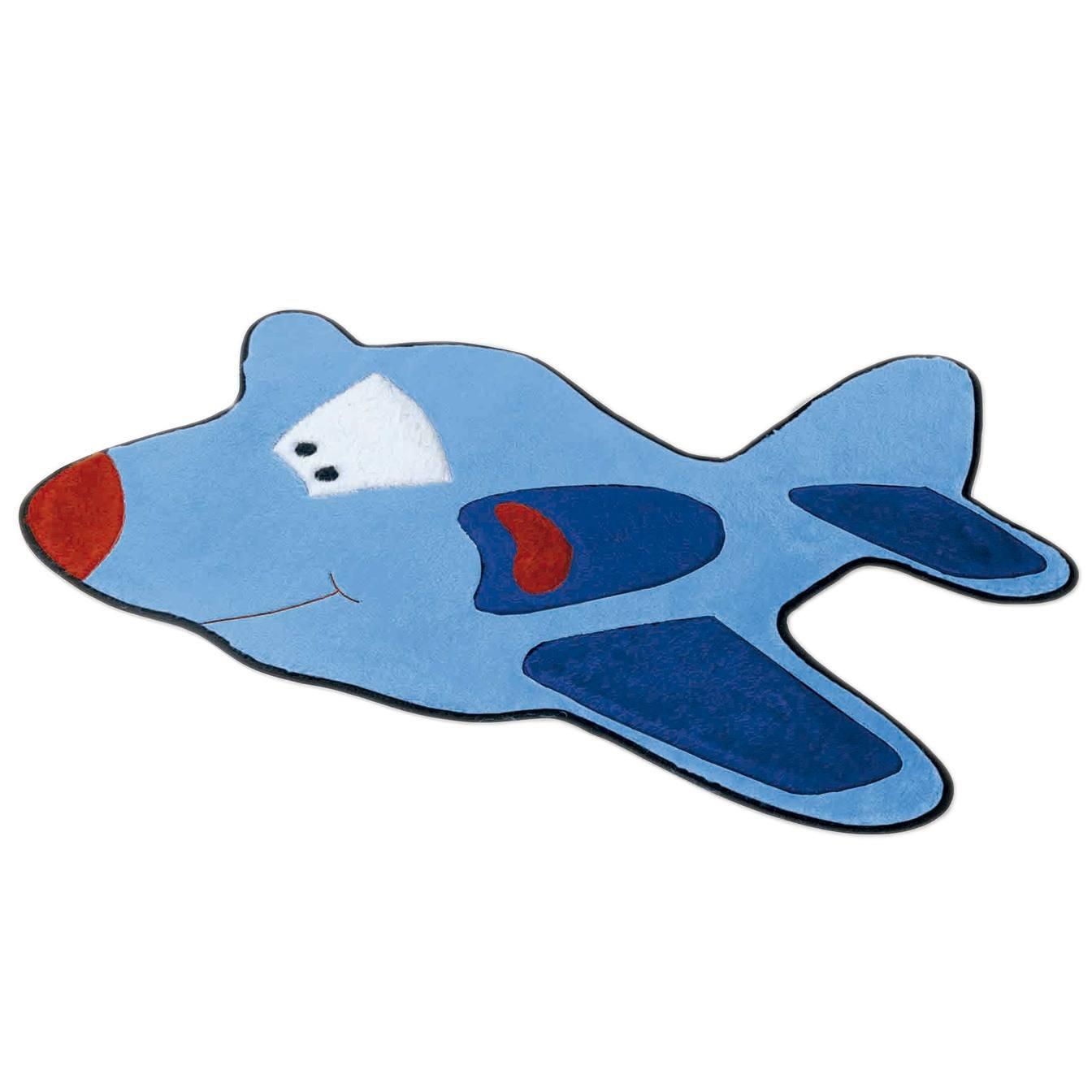 Tapete Avião Azul