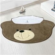 Tapete Baby Urso Marinheiro Marrom