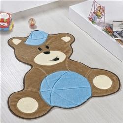 Tapete Baby Urso Bolinha Azul