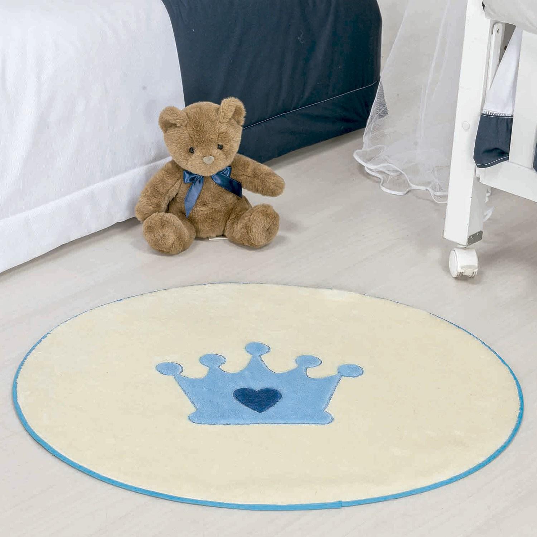 Tapete Baby Coroa Azul