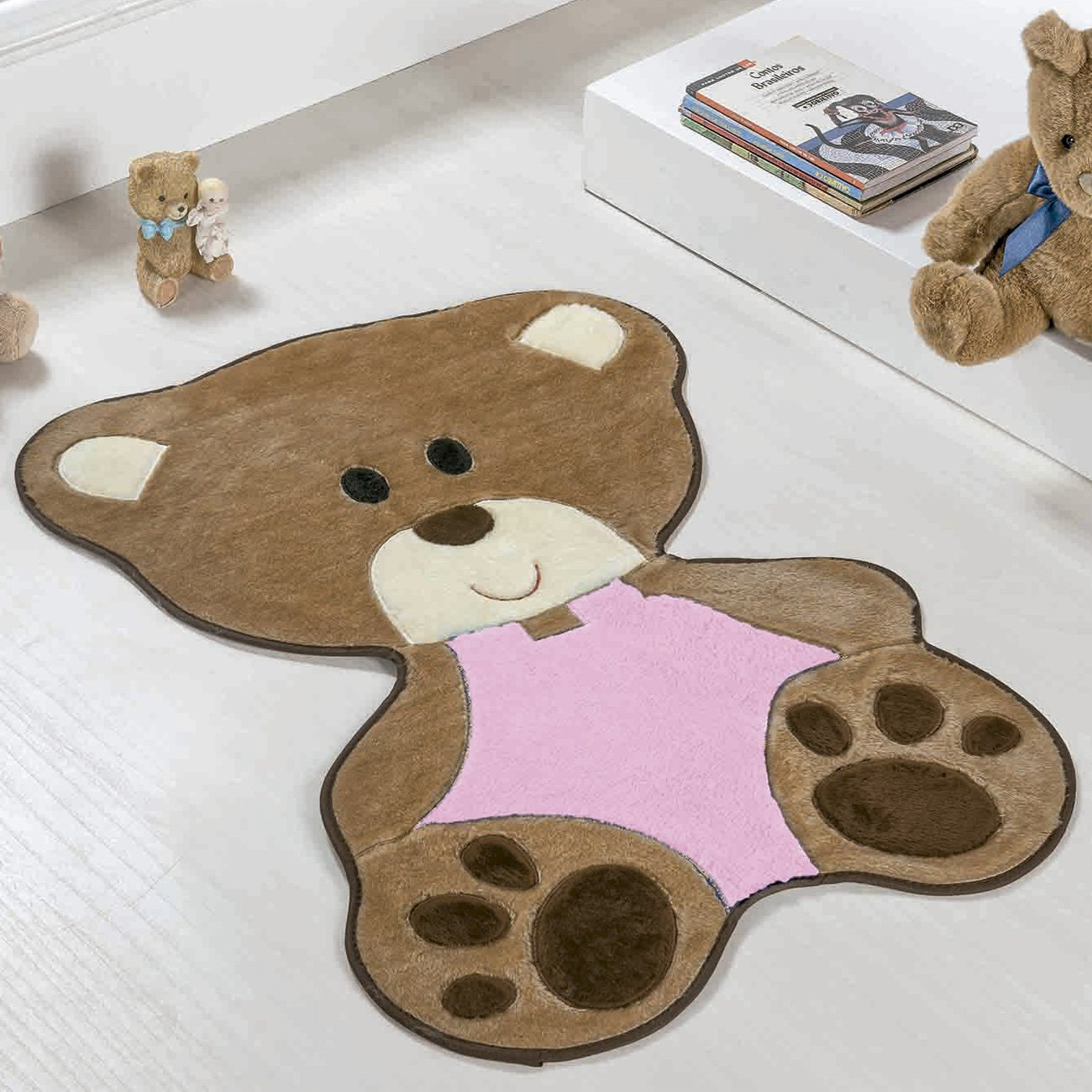 Tapete Baby Ursa Bebê Rosa