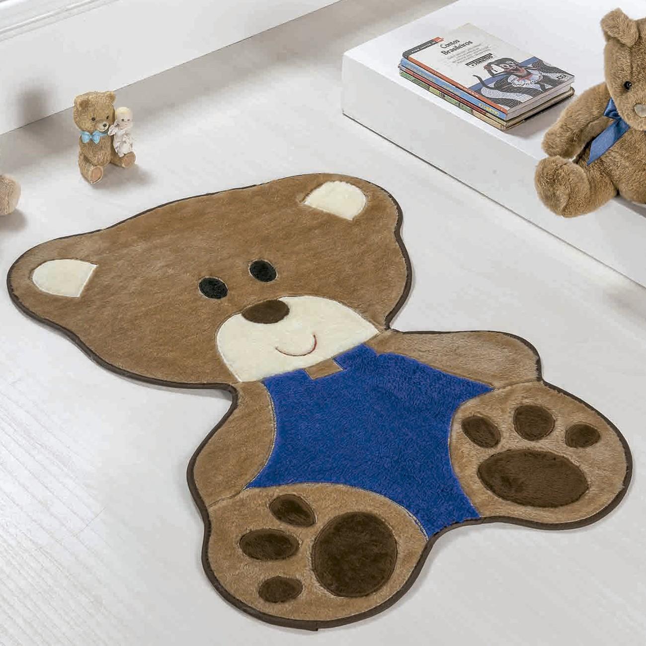 Tapete Baby Urso Bebê Marinho