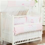Quarto para Bebê sem Cama Babá VIP Inicial do Nome Personalizada Rosa