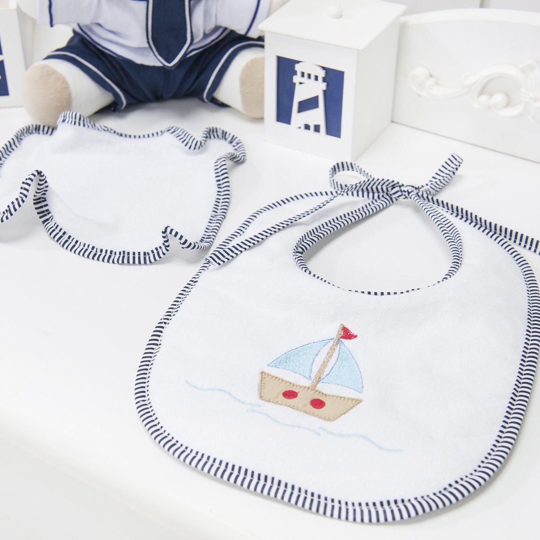 Kit Babador e Toalhinha Marítimo Marinho