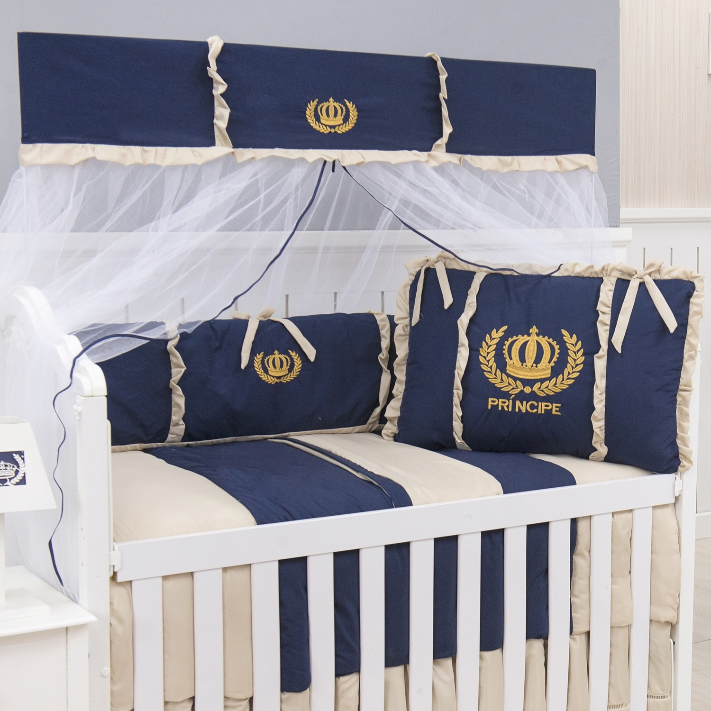 Kit Berço Príncipe Dourado