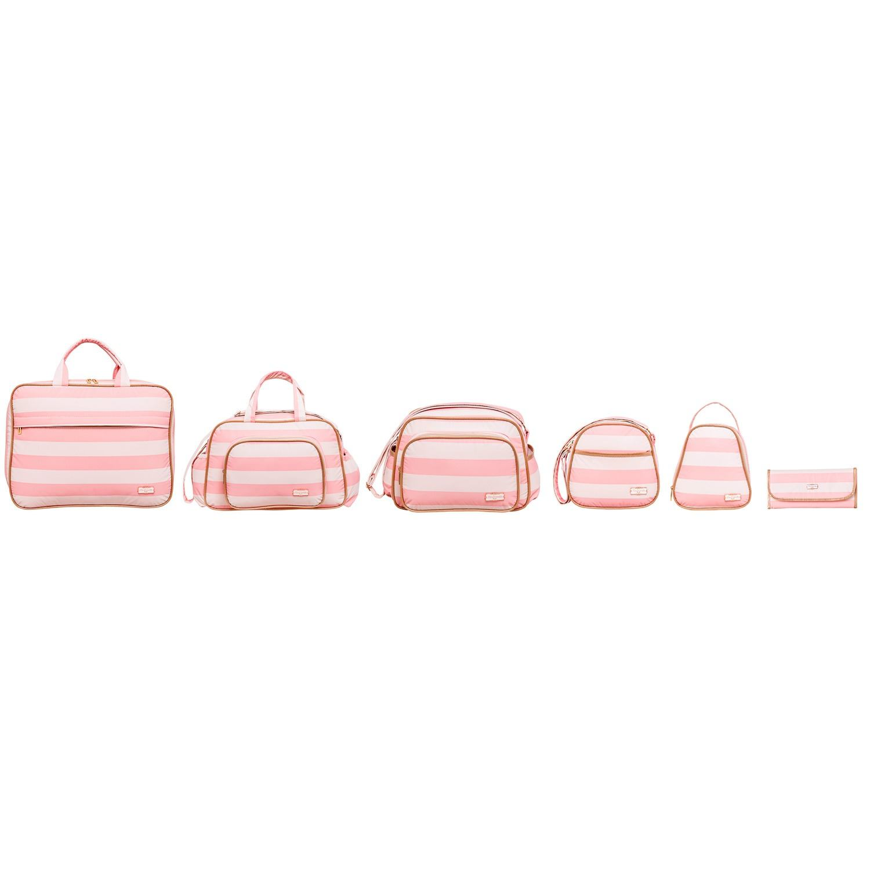 Conjunto de Bolsas Maternidade Harmonia Rosa