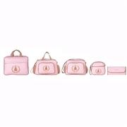 Conjunto de Bolsas Maternidade Bambini Rosa