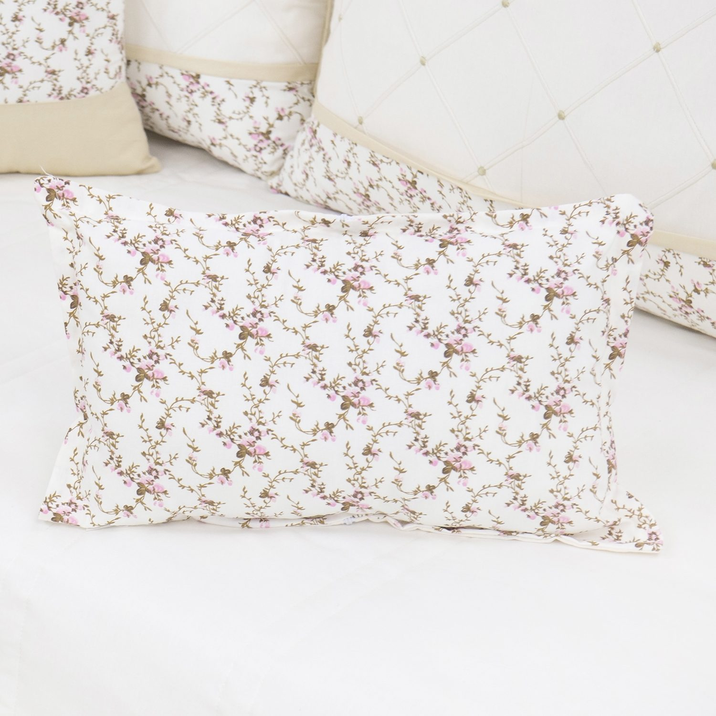Almofada Decorativa Estampada Carinha de Anjo Cáqui