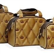 Conjunto de Bolsas Maternidade Mônaco Mostarda