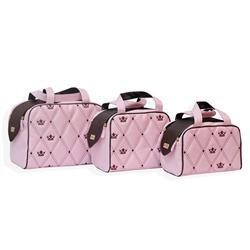 Conjunto de Bolsas Maternidade Mônaco Rosa
