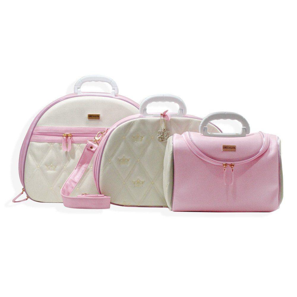Conjunto de Bolsas Maternidade Califórnia Rosa