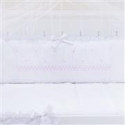 Kit Berço Marselle Rosa com Inicial do Nome Personalizada
