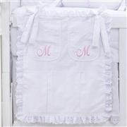 Porta Treco Marselle Rosa com Inicial do Nome Personalizada
