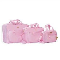 Conjunto de Bolsas Maternidade Basic Rosa