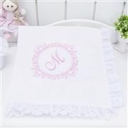 Quarto para Bebê Marselle Rosa com Inicial do Nome Personalizada
